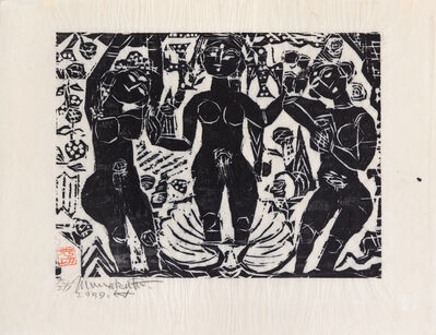 Shiko Munakata, 'Untitled (Three Goddesses)', 1959
