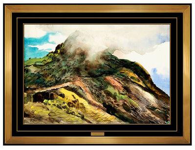 Peter Hurd, 'Peter Hurd Original Watercolor Painting Signed Landscape Authentic Framed Art', 20th Century