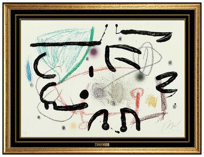 Joan Miró, 'Joan Miro Original Color Lithograph Hand Signed Abstract Modern Artwork Framed', 1975