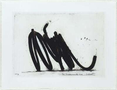 Bernar Venet, 'Two Indeterminate Lines (II)', 2014