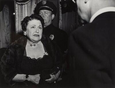 Weegee, 'Gossip Columnist Louella Parsons, Los Angeles', 1940s