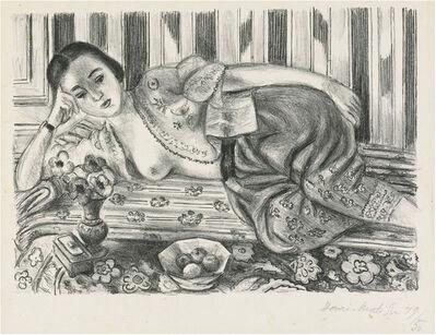 Henri Matisse, 'Matisse Lithograph Odalisque a la culotte de satin rouge (Odalisque with Red Satin Culottes)', 1925