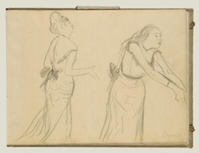 Edgar Degas, 'Sketches of a Caf' Singer', 1877