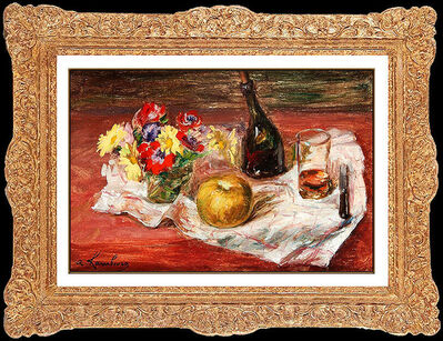 Andre Hambourg, 'ANDRE HAMBOURG Original OIL PAINTING on CANVAS Floral Still Life Authentic ART', 1955