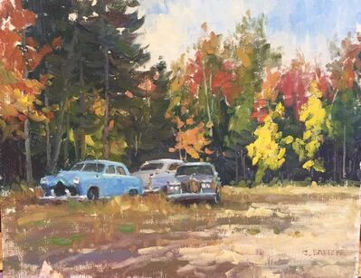 Carl Bretzke, 'Autumn Old Cars', 2016