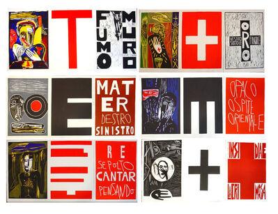 Mimmo Paladino, 'Lacrimose, Portfolio of Woodcuts', 1986