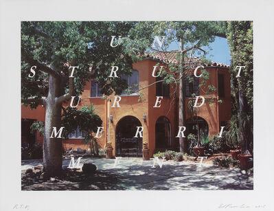 Ed Ruscha, 'Unstructured Merriment', 2016