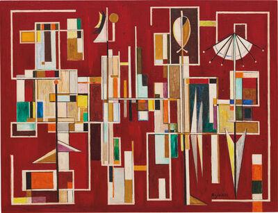 Jose Mijares, 'Lo Concreto en rojo', 1954