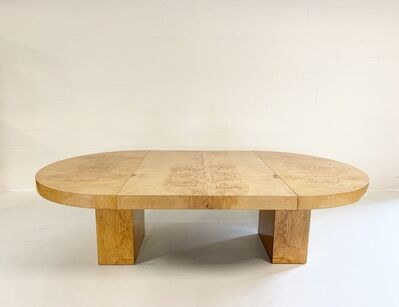 Leon Rosen, 'Burl Wood Oval Dining Table', mid 20th century