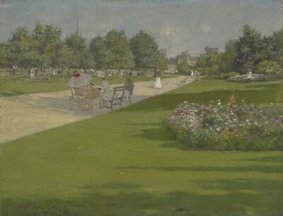 William Merritt Chase, 'Tompkins Park, Brooklyn', 1887