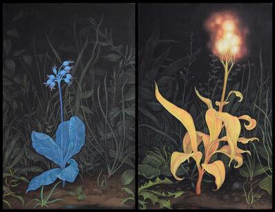 Zachari Logan, 'Moonflower, Flower Mimics the Moon (left) Sunflower, Flower Mimics the Sun (right)', 2020