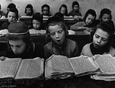 David Harris, 'Boys studying Torah in Cheder, Meah Shearim, Jerusalem', c. 1960