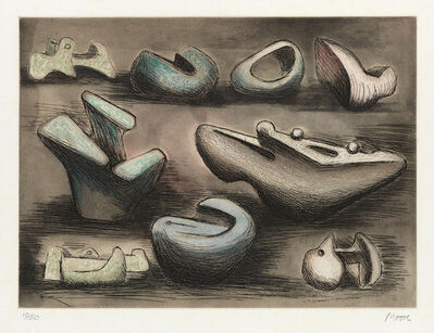 Henry Moore, 'Sculptural Ideas I', 1980