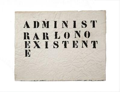 Gustavo Marrone, 'Untitled (Administrar lo no existente)', 2007