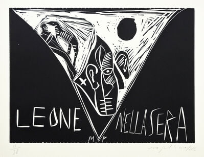 Mimmo Paladino, 'Terra Tonda Africana No 6', 1986