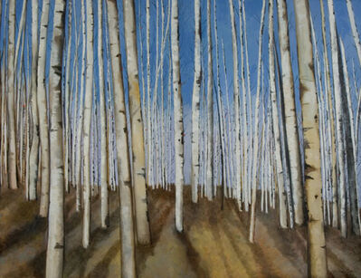 Ellen Sinel, 'Aspen Trees in Winter (dimensions provided are without frame)'
