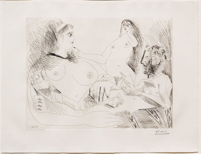 Pablo Picasso, 'Belle Jeune Femme a sa Toilette Revant..., from the 156 Series', 1971