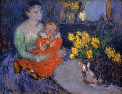 Pablo Picasso, 'Mère et enfant aux fleurs', 1901