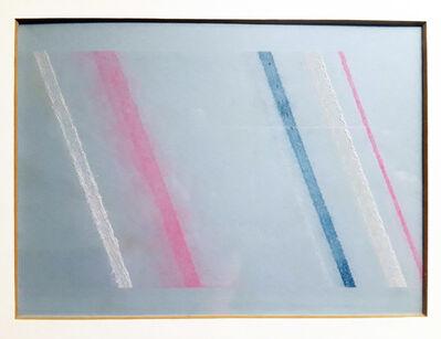 Ishan Clemenco, 'nT. (chalkline drawing: 6 lines; fluorescent pink/cobalt blue/titanium white) for Bridget Riley', 2016