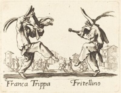 after Jacques Callot, 'Franca Trippa and Fritellino'