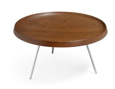 Hans Jørgensen Wegner, 'JH 586. Fruit dish of solid teak, mounted on three legged frame of matte chromed, cast steel.'