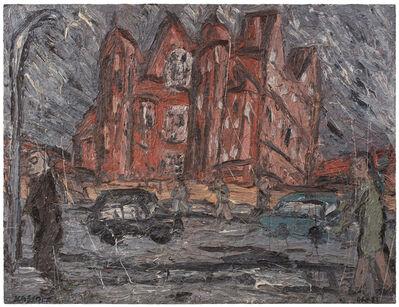 Leon Kossoff, 'School Building, Willesden, Winter', 1981