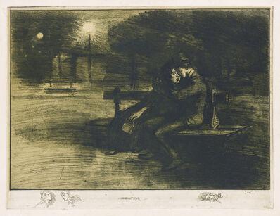 Théophile Alexandre Steinlen, 'Amoureux sur, un Banc.', 1902