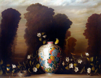 David Kroll, 'Vase, Nest and Flowering Vine', 2005
