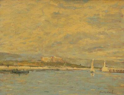 Emile René, 'View of a harbour'