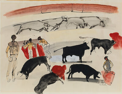 Louis Ribak, 'Study of Ring, Bullfight', 1950s