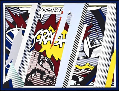 Roy Lichtenstein, 'Reflection on Crash', 1990