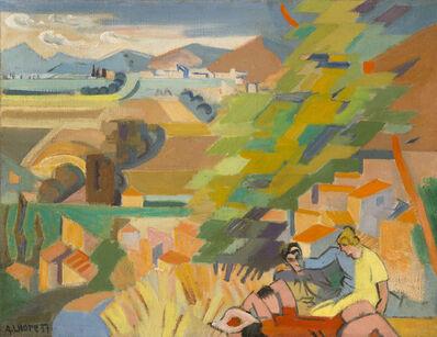 André Lhote, 'Pique-nique dans la vallée du Rhône, vue de Cliou', 1939