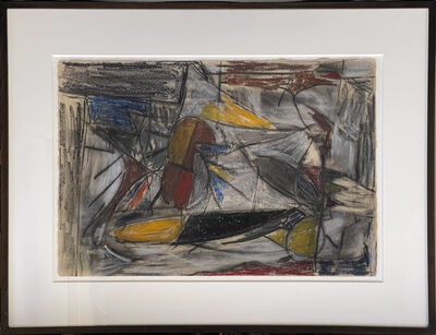 Carroll Sockwell, 'Untitled (abstract expressionist work in oil pastel)', ca. 1987