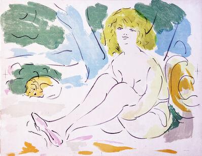 Marcel Vertes, 'Lady with dog', 1953