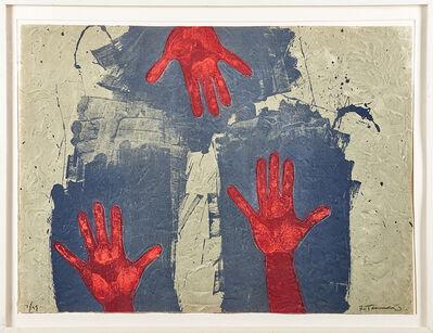 Rufino Tamayo, 'Manos sobre fondo azul', 1979