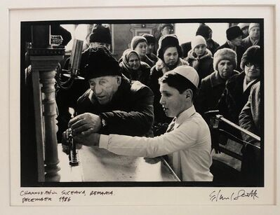 Edward Serotta, 'Photo Hanukkah Menorah Lighting Vintage Silver Gelatin Photograph ', 1990-1999
