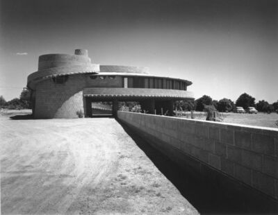 Pedro E. Guerrero, 'David Wright House, Exterior, Phoenix, Arizona (Frank Lloyd Architect)', 1952