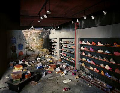 Lori Nix and Kathleen Gerber, 'Shoe Store', 2013