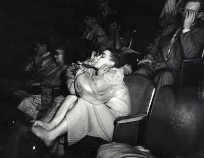 Weegee, 'Weegee, Lovers with 3D glasses at Palace Theatre,', ca. 1945