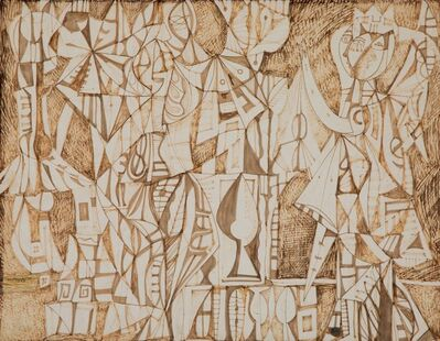 René Portocarrero, 'Figures in Interior', 1949