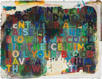 Mel Bochner, 'Complain/Kvetch', 2002
