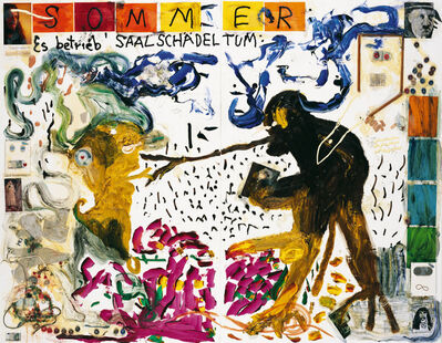 Jonathan Meese, 'Wan Sagt: Sommer, Sonne, Sonnenschein, Komm' Herein, Muss Aber Nicht Sein;Ich Bin Daheim', 2007