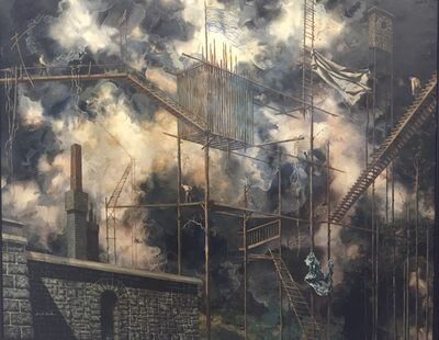 Paul Gorka, 'Surrealist Landscape with Ladder', 1950-1970