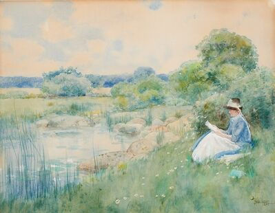Childe Hassam, 'Woman Reading (Portrait of Nellie Dubois Boyle)', 1885