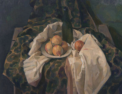 Wilbur Niewald, 'Still Life with Onions and White Drape', 2016