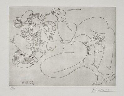 Pablo Picasso, 'Raphaël et la Fornarina. XIV: Le Pape s'est éclipsé', 1968