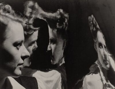 Milton Halberstadt, 'Untitled (Olga reflected in tin)', 1941