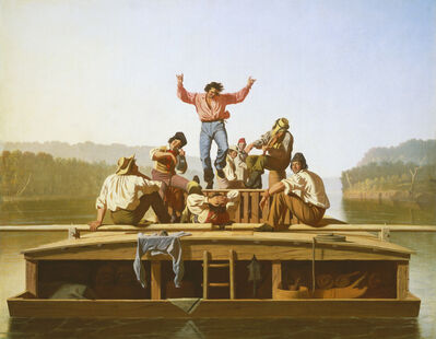 George Caleb Bingham, 'The Jolly Flatboatmen', 1846