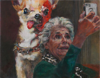 Daena Title, 'Selfie With Dog Painting', 2018