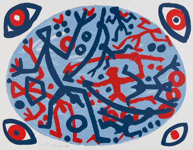 A.R. Penck, 'Untitled (Composition with four eyes)', 1993